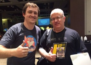 Foto com Brendan Eich (Criador do Javascript)