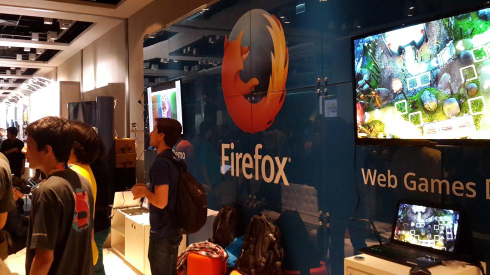Estande bacanudo da Mozilla